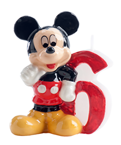 Bougie Mickey Chiffre 6 Disney