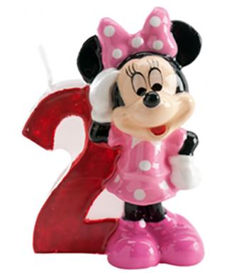 Bougie Minnie Chiffre 2 Disney