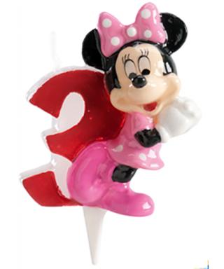 Bougie Minnie Chiffre 3 Disney