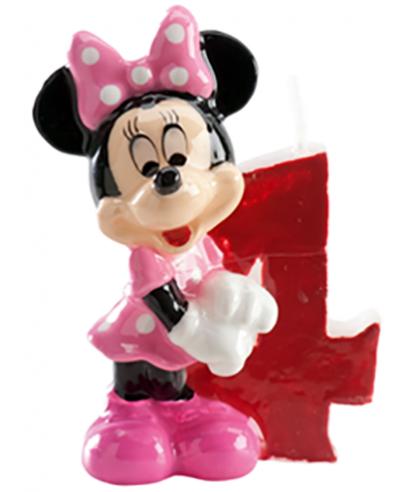 Bougie Minnie Chiffre 4 Disney