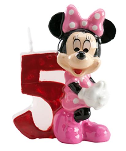Bougie Minnie Chiffre 5 Disney