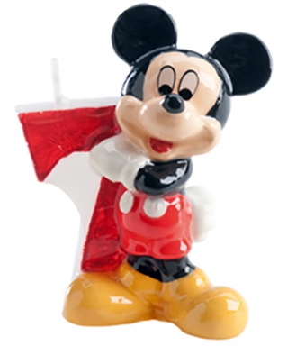 Bougie Mickey Chiffre 7 Disney
