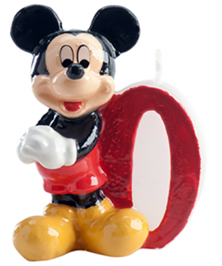 Bougie Mickey Chiffre 0 Disney