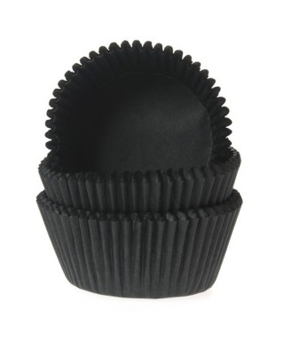 Caissette cupcake Noir pk/50 House of Marie