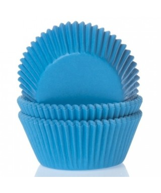 Caissette cupcake Cyan bleu pk/50 House of Marie