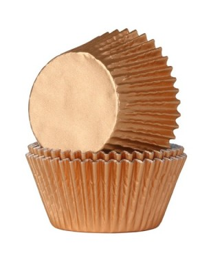 Caissette cupcake bronze métallisé pk/24 HoM