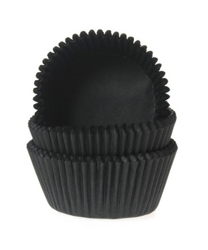 Mini Caissette cupcake Noir pk/60 House of Marie