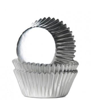 Caissette cupcake Argent métallisé pk/36 HoM