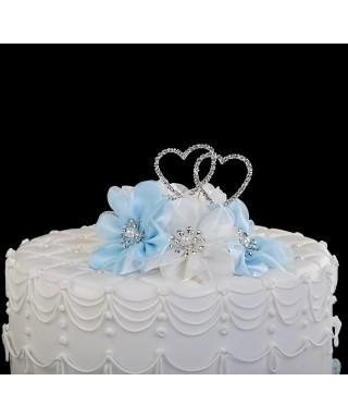 Double cœur strass pour gâteaux