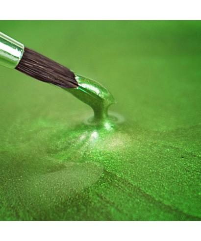 Peinture métallique vert printemps nacré 25ml Rainbow Dust