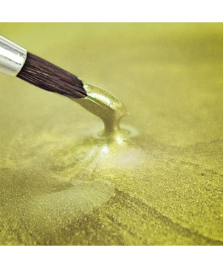 Peinture métallique Jaune nacré 25ml Rainbow Dust
