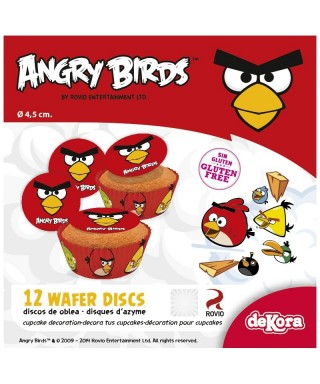 Mini Disque Azyme à cupcakes Angry Birds