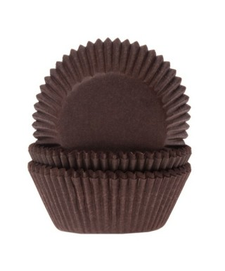 Mini Caissette cupcake Marron pk/60 House of Marie
