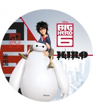 Disque azyme Hiro sur les épaules de Baymax Les Nouveaux Héros Disney