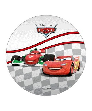 Disque azyme Cars Flash Mcqueen et Francesco Bernoulli Disney