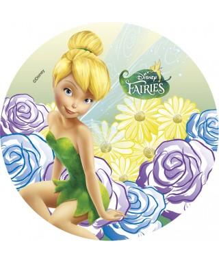 Disque Azyme Fée Clochette et ses fleurs Disney