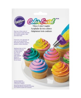 ColorSwirl Tri-Color Large Coupler Wilton