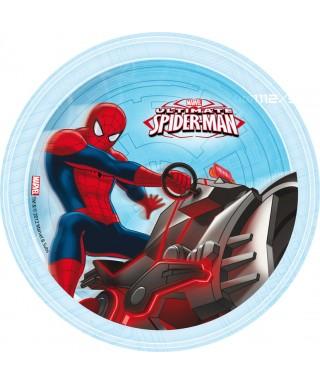 Disque azyme Spiderman sur sa moto Marvel