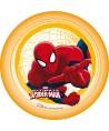 Disque pâte à sucre Spiderman rampe fond jaune Marvel