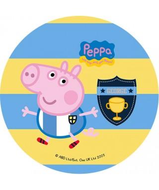 Disque de pâte à sucre Peppa pig football