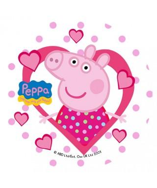 Disque de pâte à sucre Peppa pig love