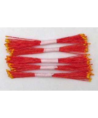 Étamines rouge à pointe jaune set/250