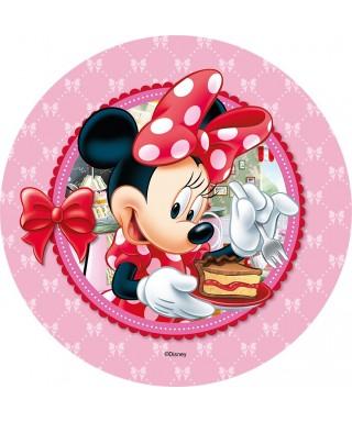 Disque Azyme Minnie et sa part de gâteau Disney