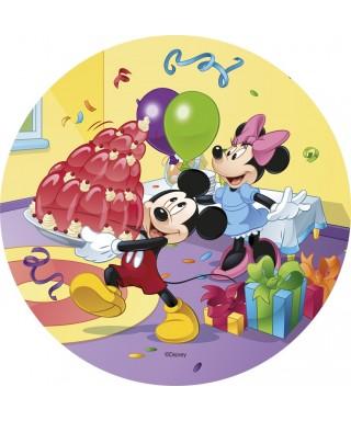 Disque pâtes à sucre mickey et minnie et leur gâteau Disney