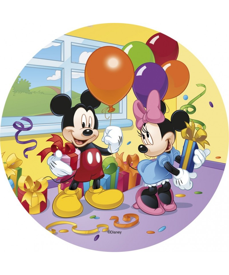 Disque p te sucre mickey minnie et leurs cadeaux disney for Decoration maison mickey