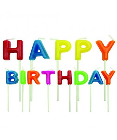 Bougie Happy Birthday Set/13 PME