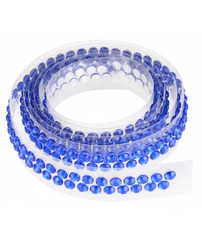 Ruban Avec Strass Adhesifs 90 Cm Bleu