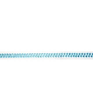 Ruban Avec Strass Adhesifs 90 Cm Bleu Ciel