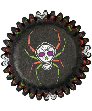 Mini Caissettes Halloween Soiree mortelle pk/100 Wilton