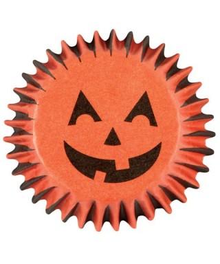 Mini Caissettes Citrouille d'Halloween pk/100 Wilton