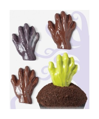Moule Candy Mold main de zombie Halloween Wilton