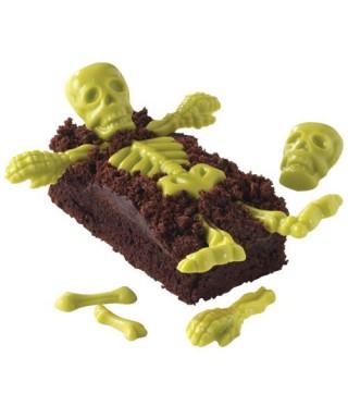 Moule Candy Mold Os et Squelette Halloween Wilton