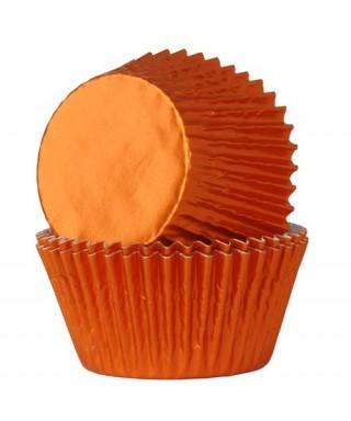 Caissette cupcake Orange métallisé pk/24 HoM