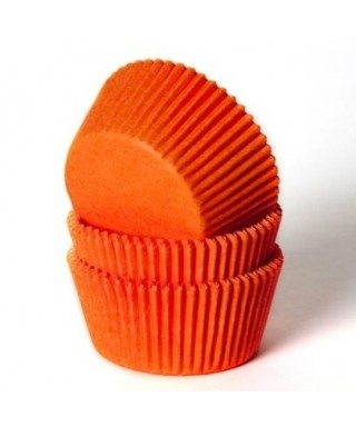 Caissette cupcake Orange pk/50 HoM