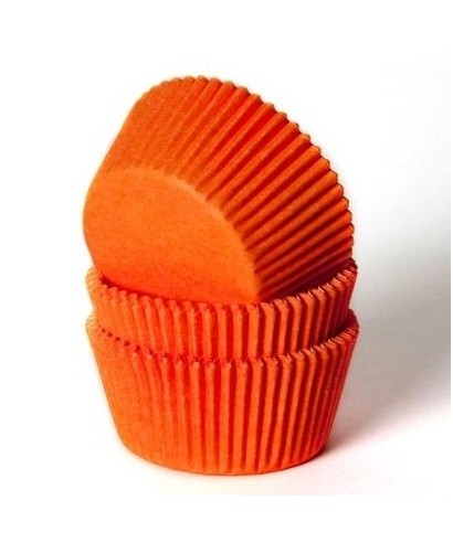 Caissette cupcake Orange pk/50 HoM