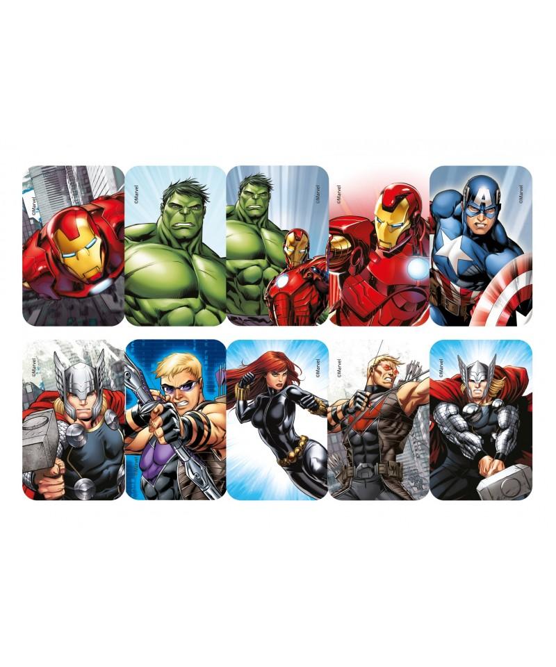 Préférence Carré pâte à Sucre Avengers set/12 Marvel SJ03