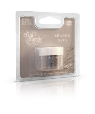 Colorant alimentaire plain and simple Gris ombre Foncé Rainbow dust