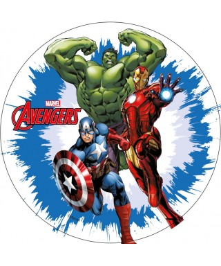 Disque Azyme Iron Man, Hulk et Captain America Avengers Marvel