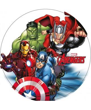 Disque azyme Avengers Thor, Iron Man, Hulk et Captain America Marvel