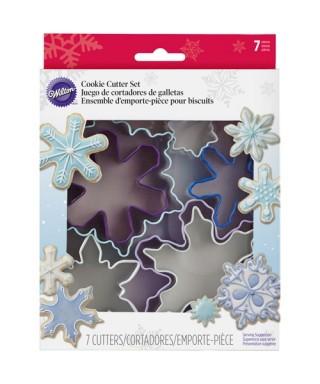Emporte-pièce métal Flocons de neige set/7 Wilton
