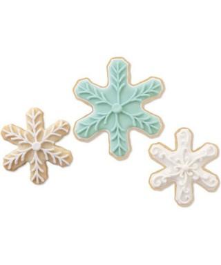 Emporte-pièce métal Flocons de neige set/3 Wilton