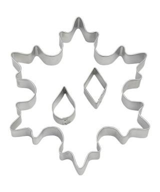 Grand Emporte-pièce métal Flocons de neige Wilton