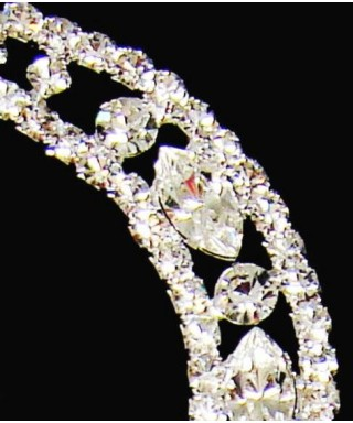 Lettre W en Diamant et Cristal pour gâteaux