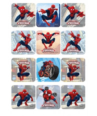 Carré pâte à Sucre Spiderman set/12 Marvel