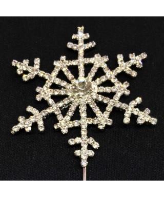 Grand flocon de neige en Diamant et Cristal pour gâteaux