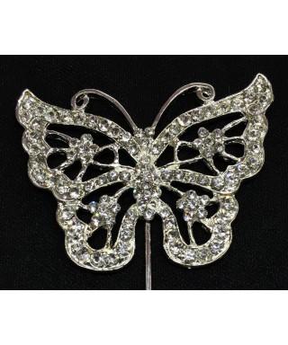 Grand Papillon en Diamant et Cristal pour gâteaux